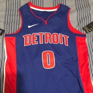 NWT Detroit Pistons #0 Andre Drummond Jersey